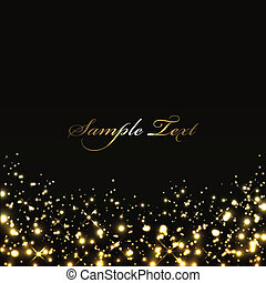 black background with gold lights - Vector luxury black...