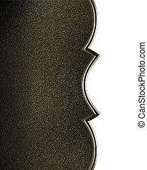 Black background with gold with cutout. Design template....