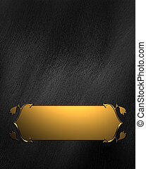 Black Background with Golden Band. Design template