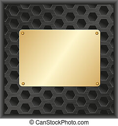 golden plaque