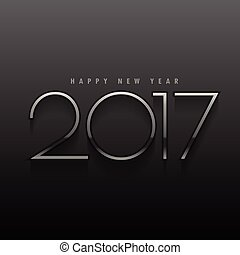 black background with metallic 2017 text in minimal style