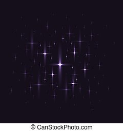 Black background with night sky with stars.