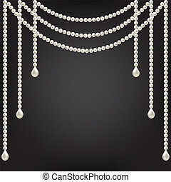pearl decoration - Black background with pearl decoration