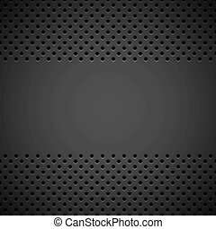 Black Background with Perforated Pattern - Black abstract...