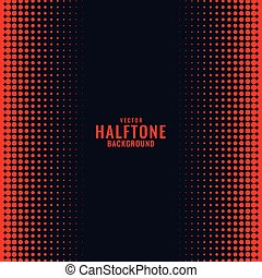 black background with red halftone gradient pattern