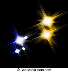 Black background with shining stars