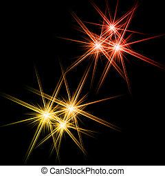 Black background with shining stars