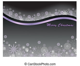 black background with snowflakes