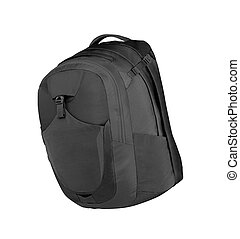 Black Backpack isolated in white background