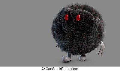 black bad hairy ball   alpha channe