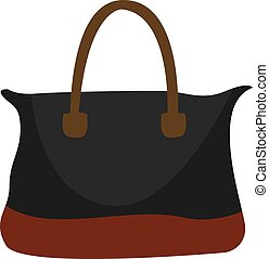 Black bag, illustration, vector on white background.