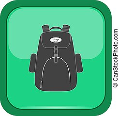Black bag on a green button