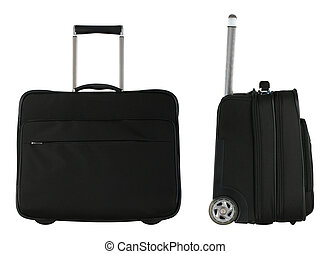 Black Bags - Travel bags from side and front view