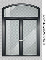 Black balcony door
