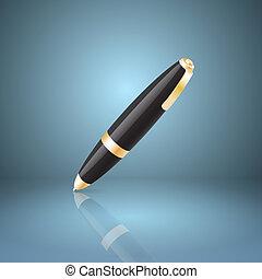 Black ballpoint pen icon