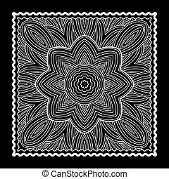 Black Bandana Print