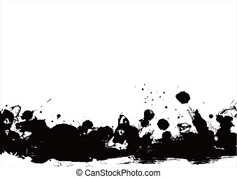 black banner with grunge style