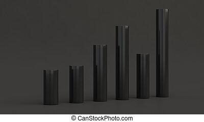 Black bar diagram on black background