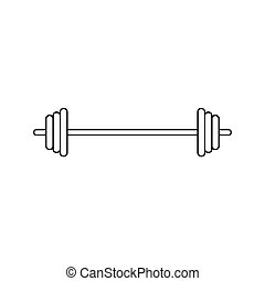 black barbell icon- vector illustration