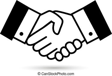 Black bargain handshake icon