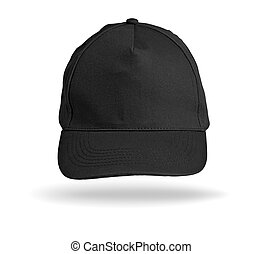 Black Baseball Cap on a white background.