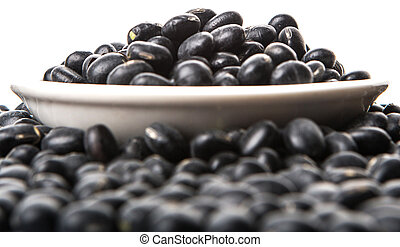 Black Bean - Black bean in white bowl