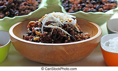 Black Bean Sweet Rice - Delicious sticky rice with black...