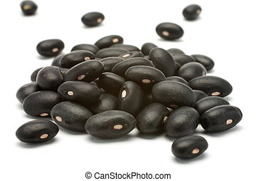 Black beans - preto - A small handful of black beans -...