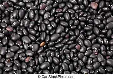 black beans close up shot for background