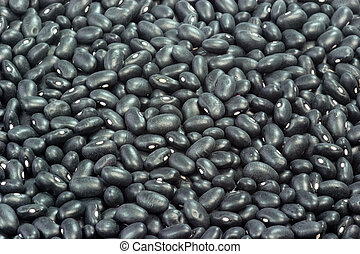 Black Beans - Close up from Black Beans as Background
