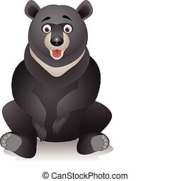 Black bear cartoon - black bear cartoon