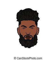 black beard man