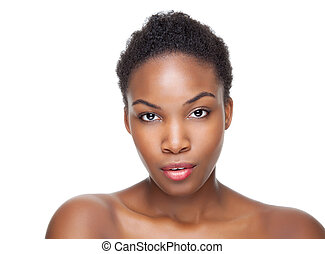 Black beauty with short hair