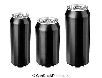 Black beer cans