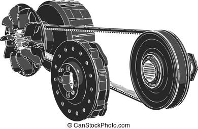 black belt, vector