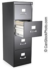 black , bestand, cabinet.