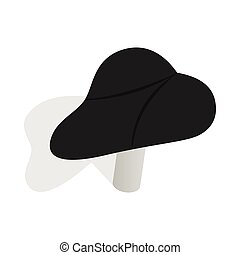 Black bicycle seat icon, isometric 3d style - Black bicycle...