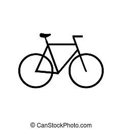 Black Bicycle symbol for banner, general design print and websites. Illustration vector.