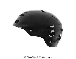 black bike helmet, isolated