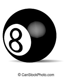 Black billiard ball Eight