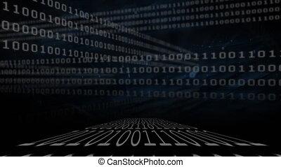 black , binair, coderen, achtergrond