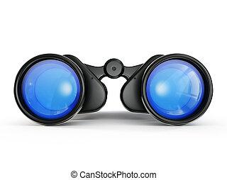 binoculars - black binoculars isolated on a white background