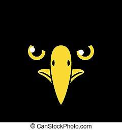 black bird flat draw face
