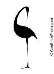 Black bird. Vector illustration.