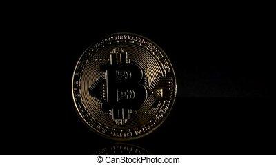 black , bitcoin, achtergrond, herfst