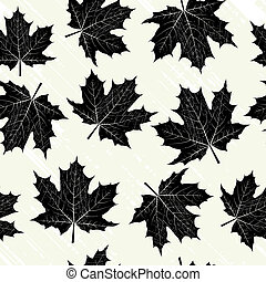 black , bladeren, grunge, achtergrond