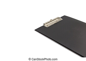 Black Blank clipboard isolated on white