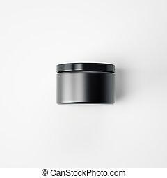 Black blank cream package. 3d rendering