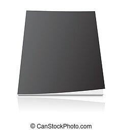 black blank magazine cover