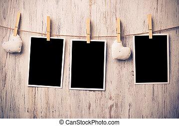 Black blank phote frame